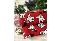"C3311 Designer Brand Cotton""Mickey& Minnie Gloves"""