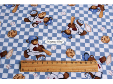 C1215 Designer Brand Cotton *Billy Bear At Bat Bear Toss*