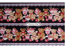 JPC 671 Japanese Cotton Fabric * Teddy & Desert *