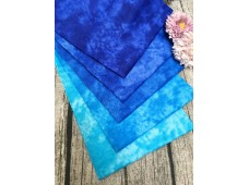 "QDC3329 Designer Cotton Tone Fabric Bundle""BLUE"""