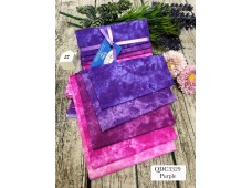 "QDC3329 Designer Cotton Tone Fabric Bundle""PURPLE"""