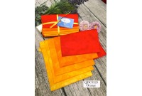 "QDC3329 Designer Cotton Tone Fabric Bundle""ORANGE"""