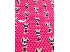 "C3334 Designer Brand Cotton""Minnie Mouse With Dot"""
