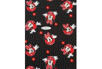 "C3335 Designer Brand Cotton""Minnie With Flowers And Polka Dots"""