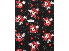 """C3335 Designer Brand Cotton""""Minnie With Flowers And Polka Dots"""""""