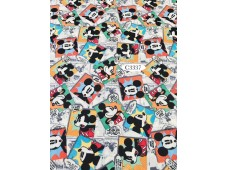 "C3337 Designer Brand Cotton""Mickey Tossed Comics"""