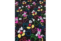 "C3341 Designer Brand Cotton""Mickey & Minnie"""