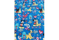 "C3342 Designer Brand Cotton""Mickey Love Your Pet"""