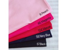 BC3343 Plain Paster Color Twill Cotton*