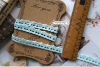 L 92 Pastel Blue 9MM cotton Lace