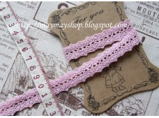 L54 Sweet Pink 1.5cm Cotton Lace