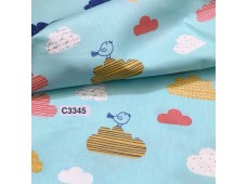 BC3345 Twill Cotton *Clouds & Bird*