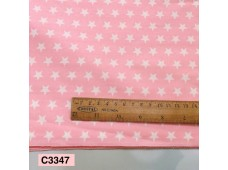 BC3347 Twill Cotton *Pink Stars*