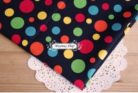 C1379  *Colorful Dots In Black*