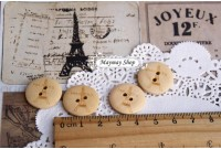 RW200 Paris Tower Wodden Button