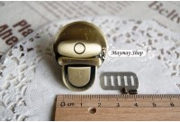 RW85 Brass Color Metal Buckle Lock Set