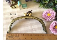 Rw223 Antique Brass Double Love Purse Frame