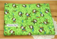CF1558 Cotton Flannel *Happy Monkey Land*