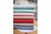 LC1344 Blended Linen Cotton*7 Lovely Polka Dot *