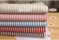 LC358 Blended Linen Cotton * 5 Color Stripe *