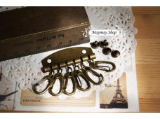 Rw186 Antique Brass Key Holder